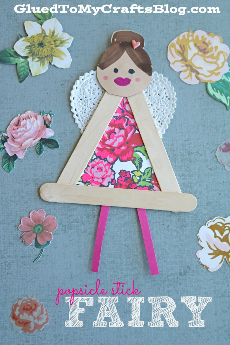 Popsicle Stick Garden Fairies - Kid Craft - Glued To My Crafts