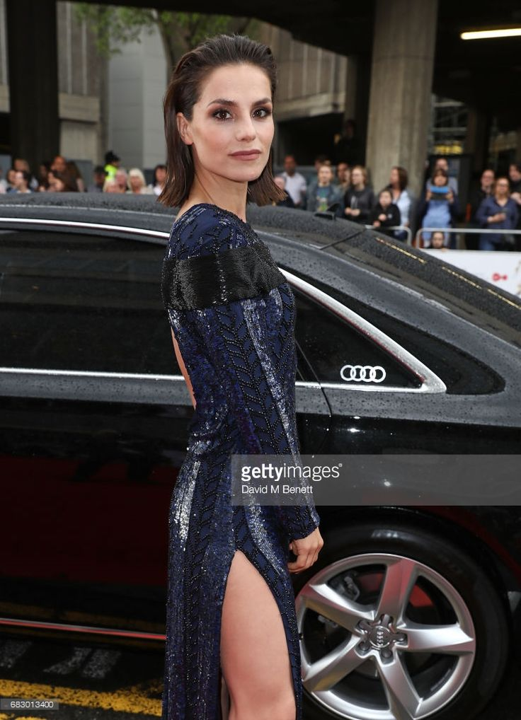 Charlotte Riley arrives in an Audi at the BAFTA TV on Sunday 14 May 2017 on May 14, 2017 in London, United Kingdom.