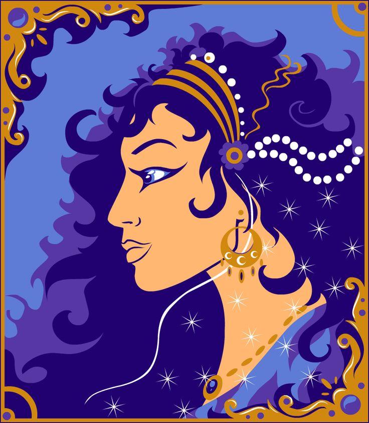 Арабская принцесса, ограниченная палитра. Векторная графика,нарисовано в Adobe Flash CS5