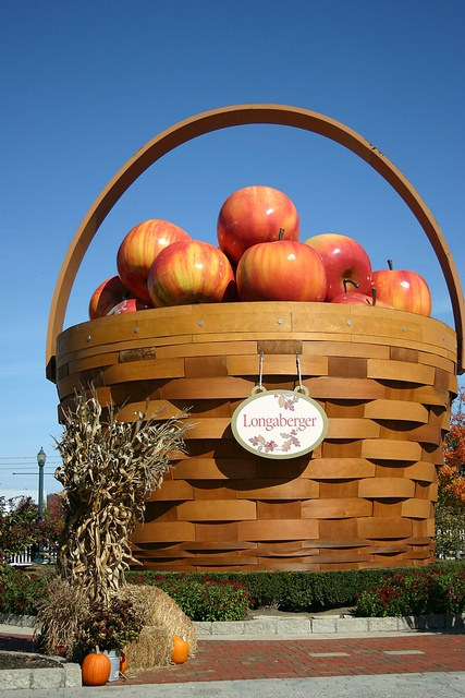 Apples bigger than the Pumpkins at the Longaberger Factory;  Dresden, Ohio;  photo by Krenda Frushour, via Flickr