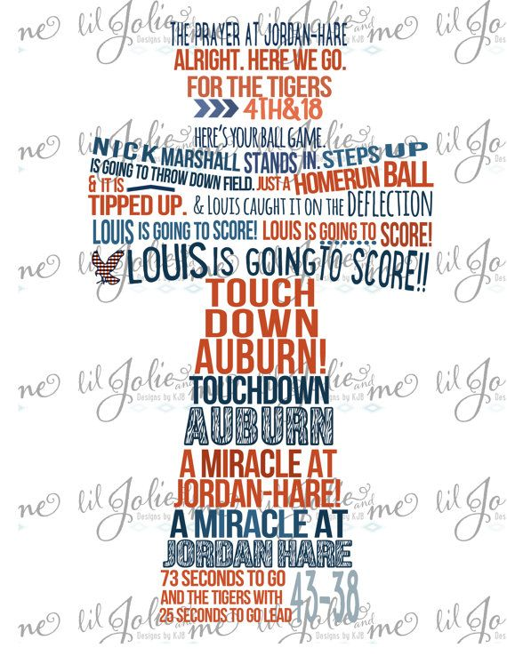8x10  Miracle at JordanHare Radio Call Printable by LilJolieandMe, $12.00