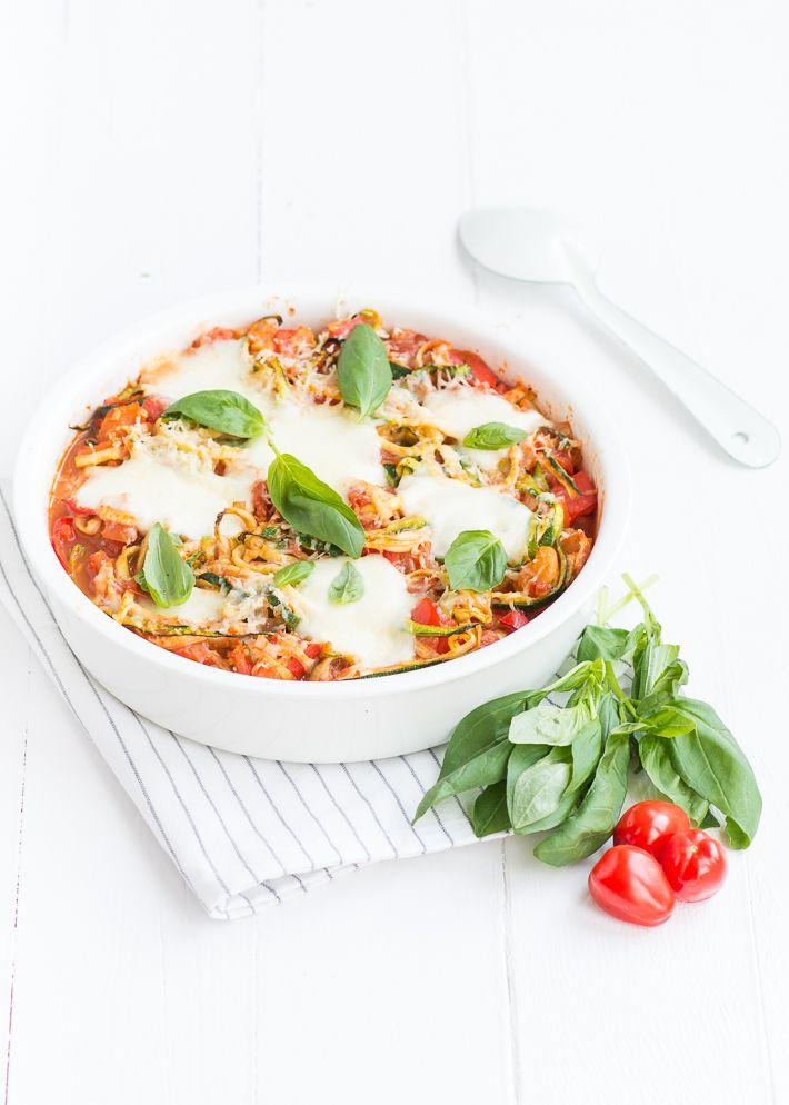 courgette pasta uit de oven