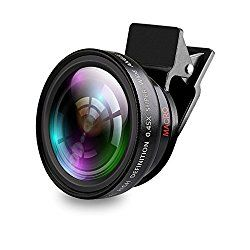37mm Wide Angle Lens 0.45x Conversion Lens with Macro Close-Up Attachment for Camcorder Digital Video Camera Recorder and Smart Phone/ Table