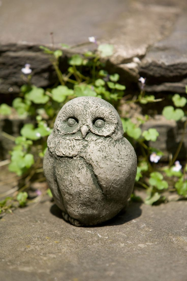 Owl lawn ornaments - Baby Barn Owl Garden Statue This Cute Baby Barn Owl Stands Almost Tall And Wide And Only Weighs 2 Pounds The Baby Barn Owl Is Shown Is Alpine Stone And