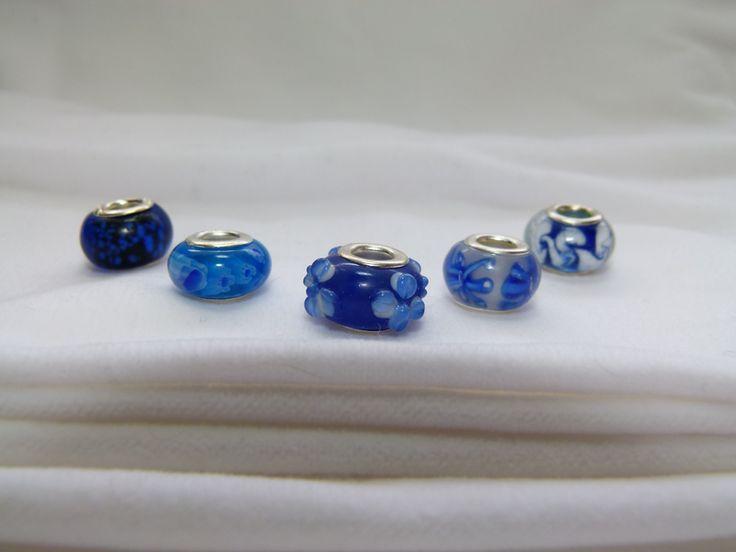 Blue Pandora style beads