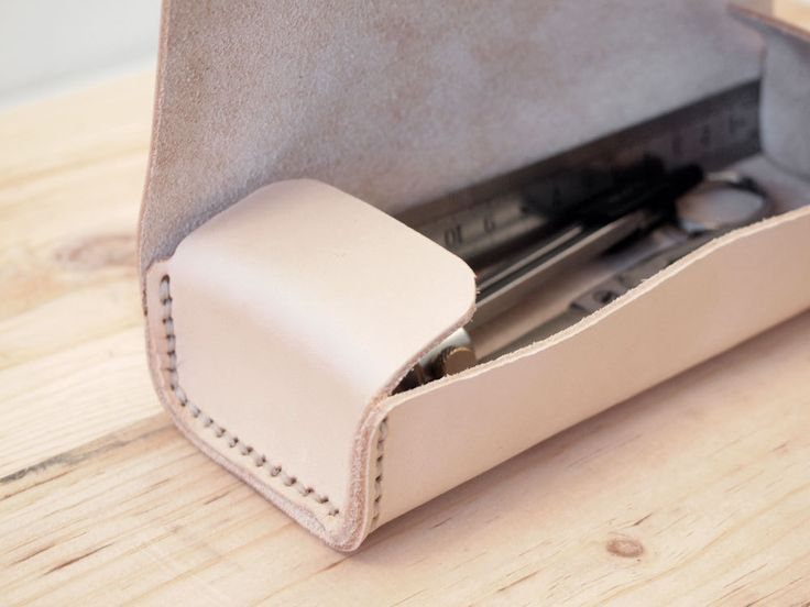 Leather Pencil Case. $59.00, via Etsy.