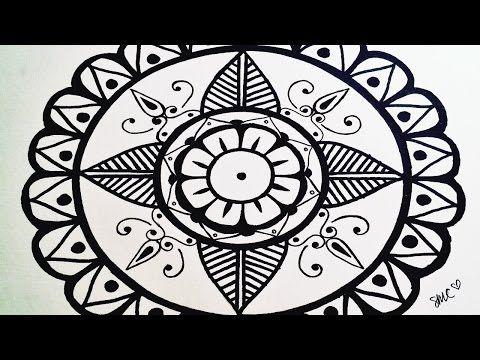 mandala draw a very simple mandala for beginners step by
