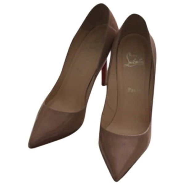 Pre-owned Nude Pumps (415.695 CRC) ❤ liked on Polyvore featuring shoes, pumps, nude, nude pumps, nude court shoes, nude shoes, nude footwear and pre owned shoes