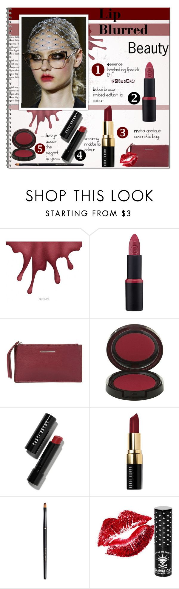 """""""BEAUTY: Lip Blurred!!!!!"""" by alves-nogueira ❤ liked on Polyvore featuring MANGO, Kevyn Aucoin, Bobbi Brown Cosmetics, H&M, Manic Panic NYC, Beauty and LIPSTICK"""