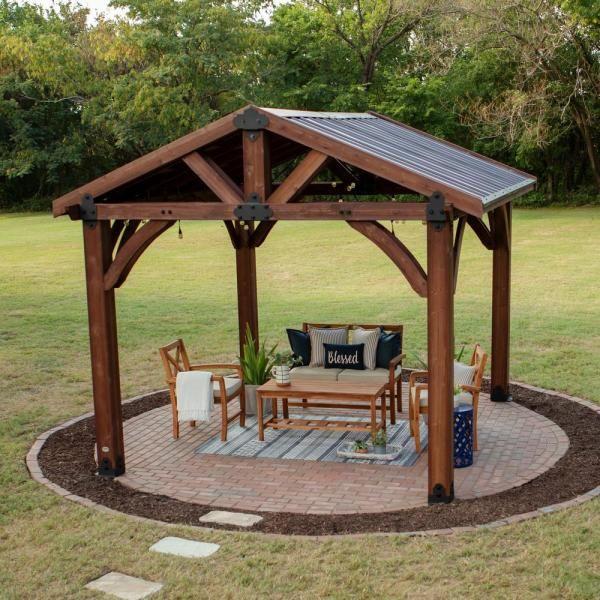 Backyard Discovery Sonora 12 ft. x 12 ft. Premium Cedar ... on Backyard Discovery Pavilion id=79929