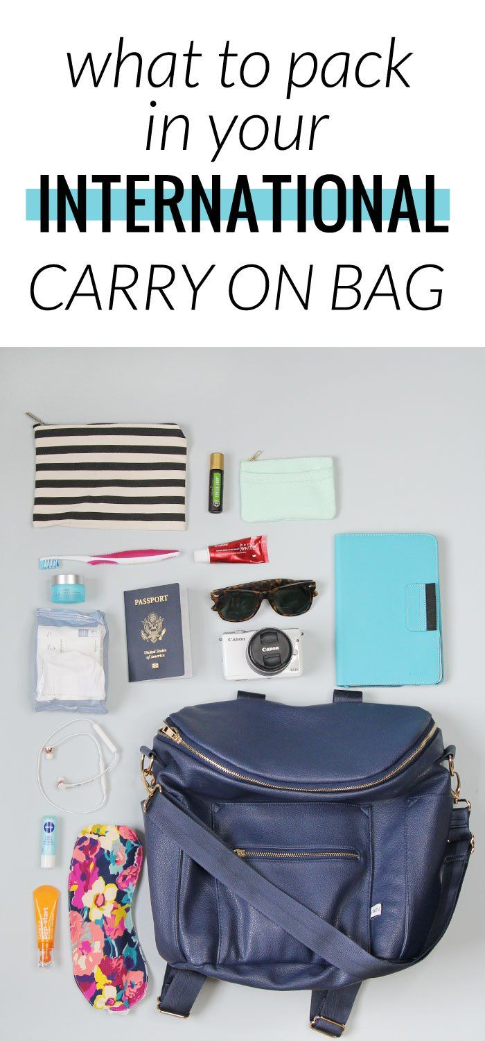 What to pack in your international carry on bag - everything to get you through a long flight!