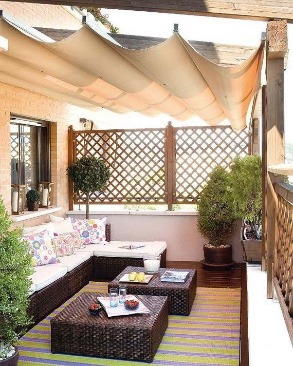 How to Create Suitable Balcony Decorating Ideas for Apartment : Elegant Balcony Design Ideas