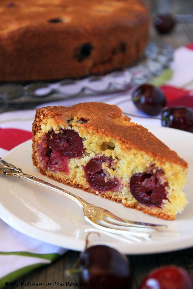 Kirschenmichel/ Kirschenplotzer - A Traditional German Cherry Cake - Oma made hers as a chocolate cake with the cherries in it like this.   DELICIOUS