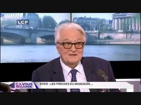 Roland Dumas les Anglais preparaient la guerre en Syrie deux ans avant l...