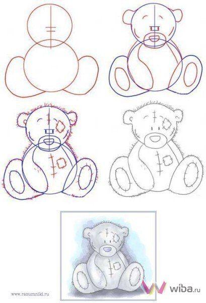 Como dibujar un oso paso por paso