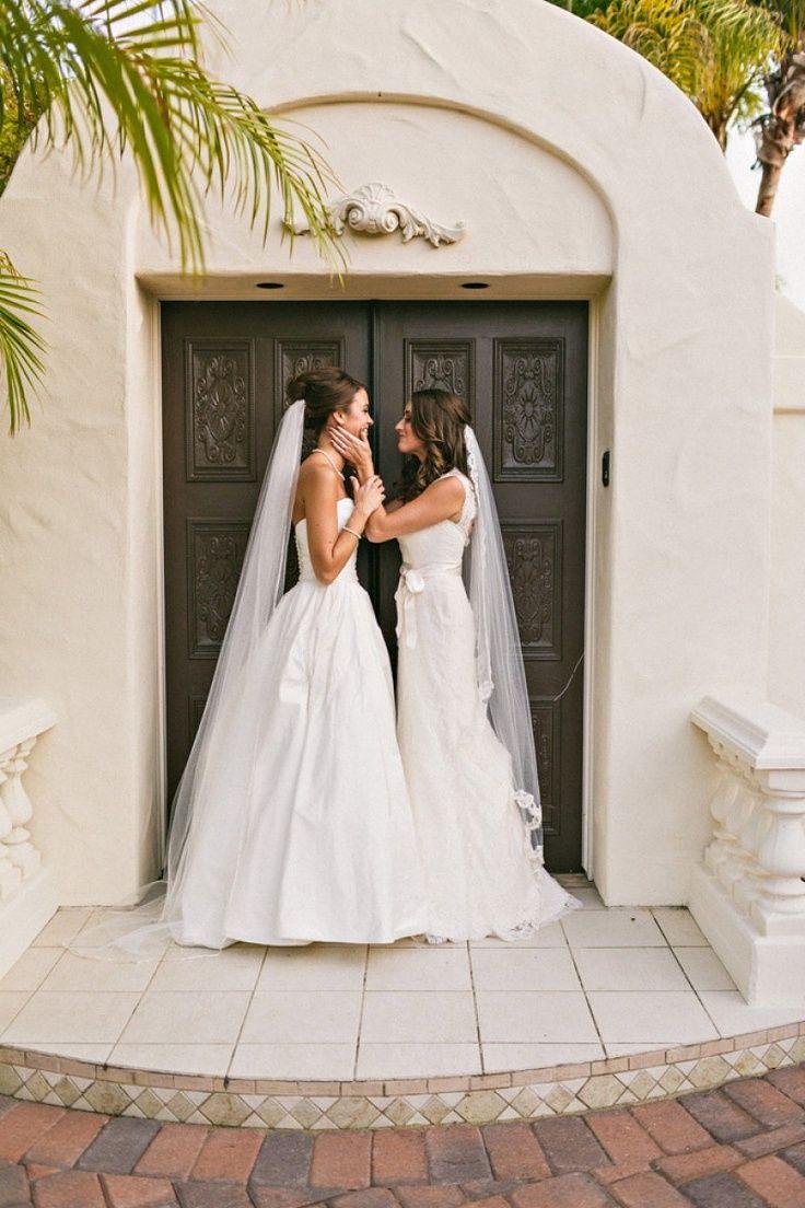 We love these blushing brides in gorgeous wedding white!
