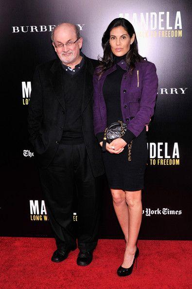 Salman Rushdie with Melissa Brody - 'Mandela: Long Walk to Freedom' Screening in NYC