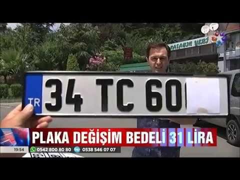 Artık plakalar tek tip olacak bedeli ise 31 lira :)