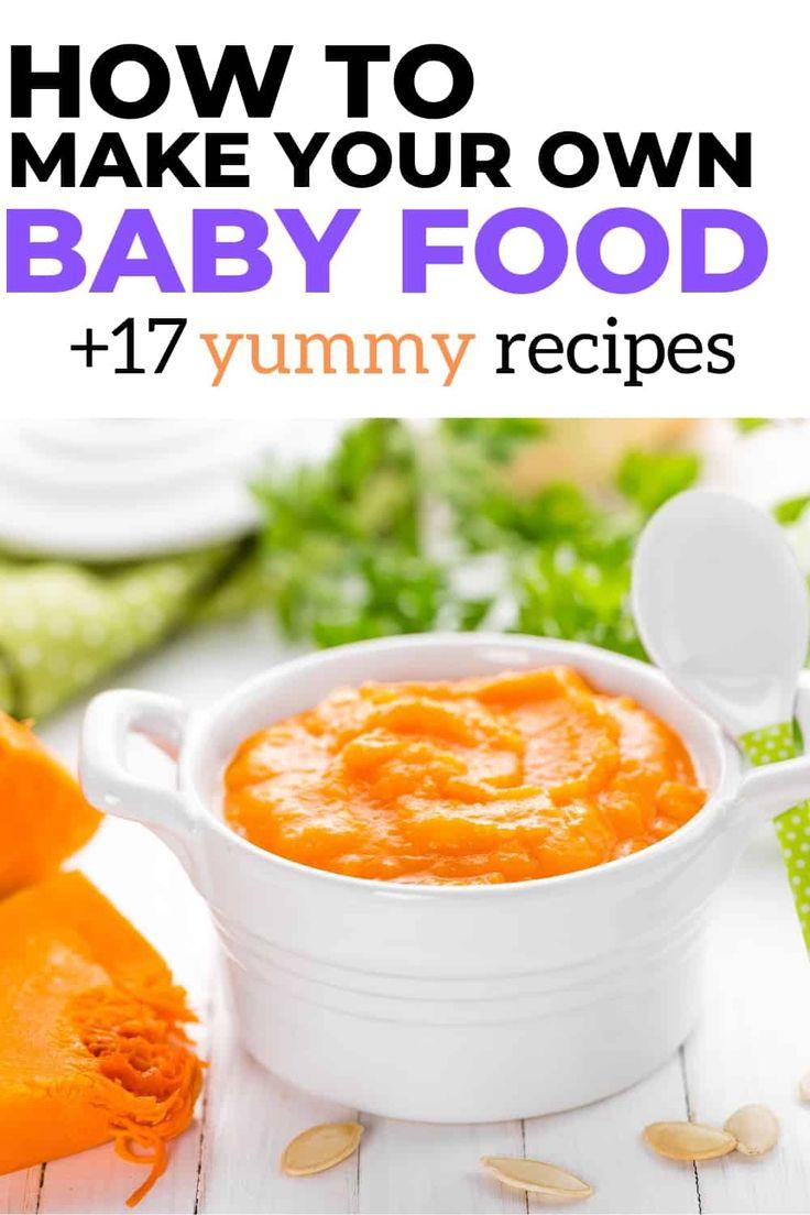 So machen Sie Ihre eigene Babynahrung   – Baby food