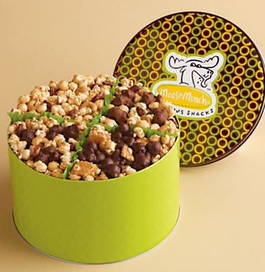 New Parent Gifts:  Moose Munch Popcorn Gift Tin at Harry & David.  This was by far one of the best gifts my husband and I received when we had our son.  It is the perfect snack during midnight feedings and great to put out when visitors stop by.  Good thing its not at the grocery store or Id weigh 15 pounds more right now.: Gifts Tins, Gifts Ideas, Moo Munchobsess, Blackberries Moo, Chocolates Sweet, Tins Classic, Popcorn Gifts, Munch Popcorn, Harry And David Moo Munch