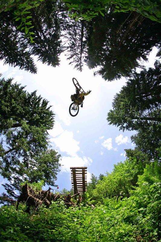 MTB gap jump in Les Gets, France