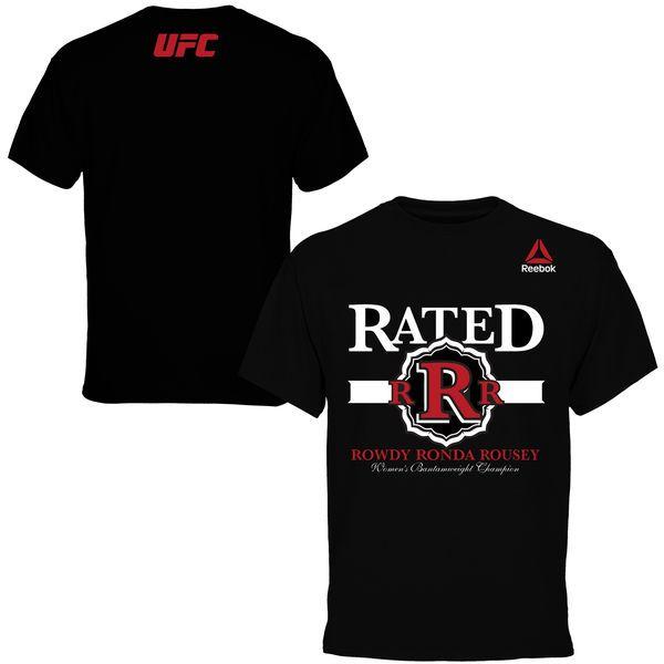 """Rowdy"" Ronda Rousey Reebok Weigh-In T-Shirt - Black - $34.99"