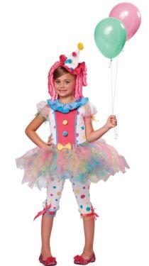 girls clown costume - Girl Clown Halloween Costumes