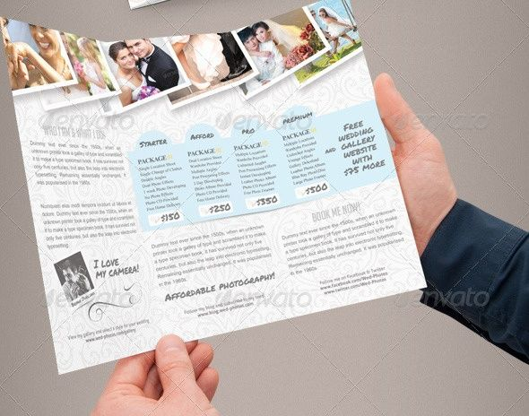 15 best Flyers images on Pinterest Wedding planer, Brochure - wedding flyer