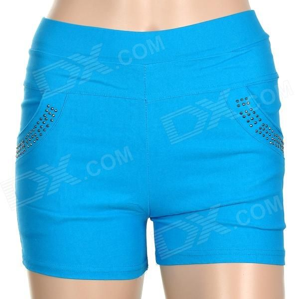 Brand: No; Quantity: 1; Color: Blue; Material: Woven fabric; Gender: Women; Suitable for: Adults; Style: Fashion; Size: Free Size; Waist Girth: 66 cm; Hips Girth: 80 cm; Thigh Girth: 42 cm; Total Length: NO cm; Suitable for Height: 160~175 cm; Features: Elastic, comfortable and breathable; Absorbs sweat; Packing List: 1 x Short pants; http://j.mp/1v2EifY