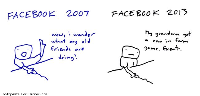 Comic by Toothpaste For Dinner: facebook 2007 2013