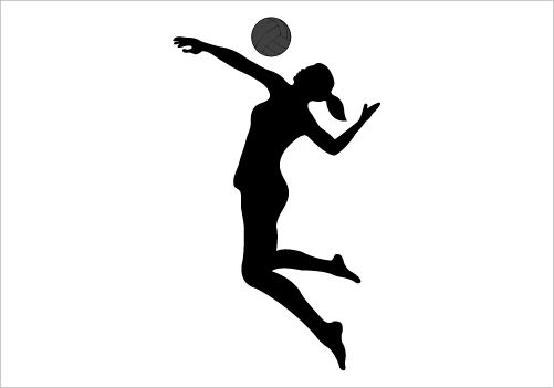 Volleyball Silhouette Graphics