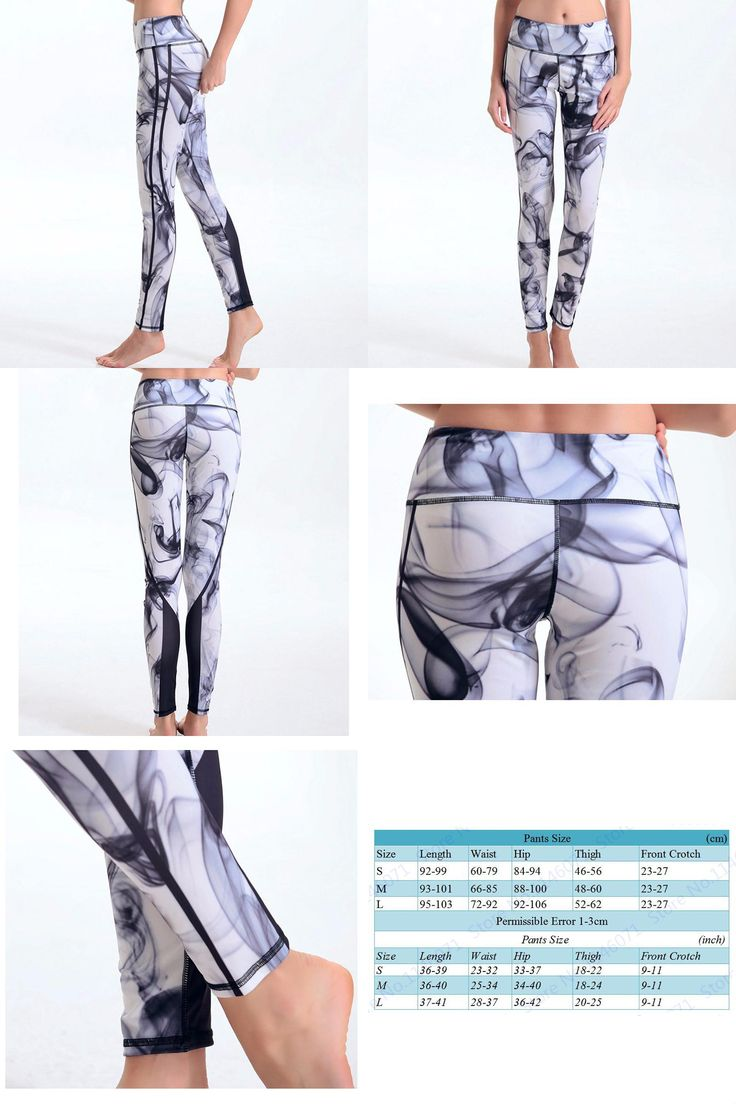 [Visit to Buy] Yoga Pants Printing Sports Leggings Fitness Running Tights Women Breathable Quick Dry Sportwear mallas deportiva mujer gym ropa #Advertisement