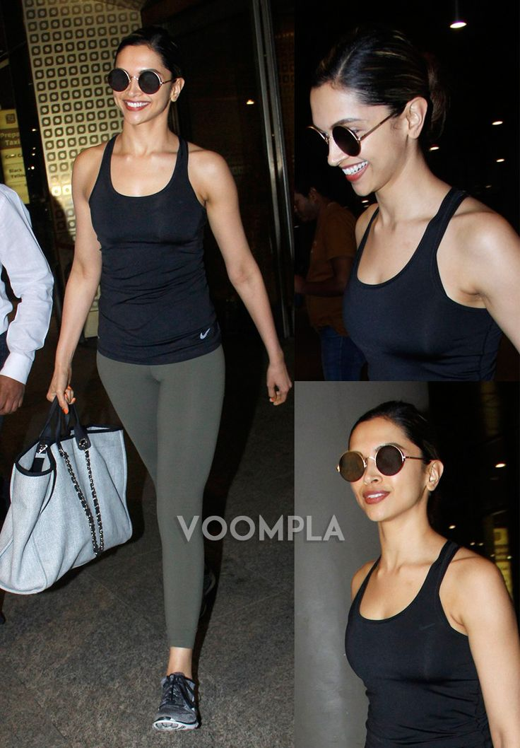 Fitness first! Deepika Padukone in her gym workout clothes. via Voompla.com