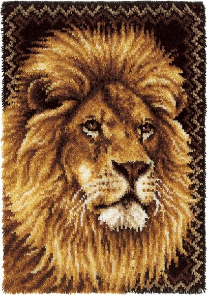 "Yarnspirations.com -  Wonderart Latch Hook Kit 27""X40"" Lion - Accessories  