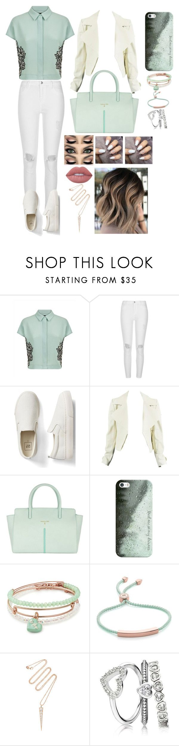 """Random Outfit #51"" by x1dlover4everx ❤ liked on Polyvore featuring Jaeger, River Island, Gap, Patrizia Pepe, Casetify, Alex and Ani, Monica Vinader, Anita Ko and Lime Crime"