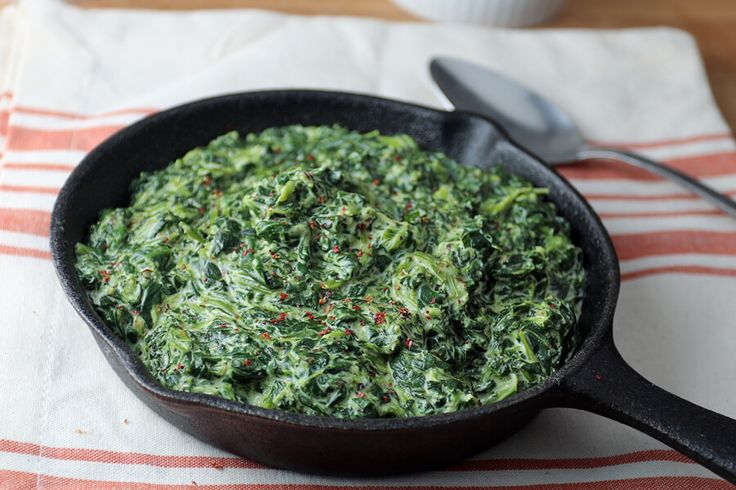 Easy Keto Creamed Spinach Shared on https://www.facebook.com/LowCarbZen | #LowCarb #Keto #SideDish