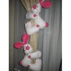 sostener cortinas - conejos