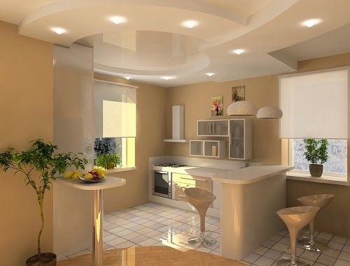 New Trends For False Ceiling Designs For Kitchen Ceilings, See How To Make  Ceilings In The Kitchen ,design Variants Design Ceiling In The Kitchen And  Photos