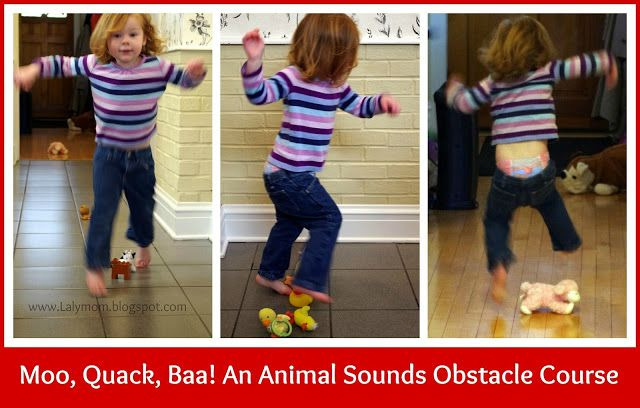 Moo, Quack, Baa! An Animal Sounds Obstacle Course - pinned by @PediaStaff – Please Visit ht.ly/63sNtfor all our pediatric therapy pins