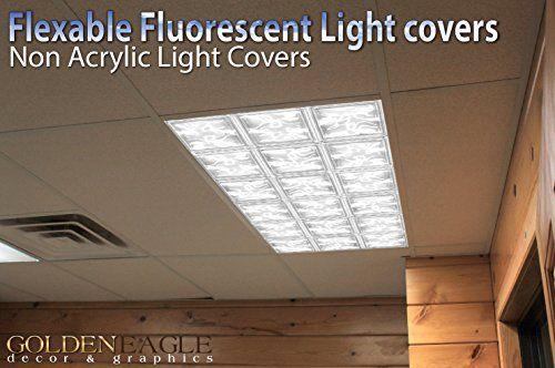 Glass Tiles Drop Ceiling Fluorescent Decorative Ceiling