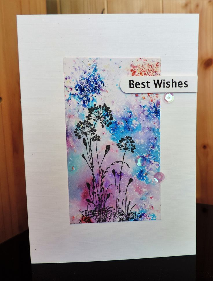 Card By Sue Ivings Background Effect Made With Brusho And