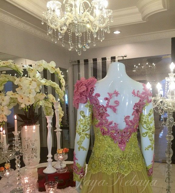 yellow....wedding kebaya dress