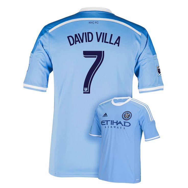 Men's Adidas New York City FC David Villa Wordmark MLS Jersey, Size: XL, Blue Other