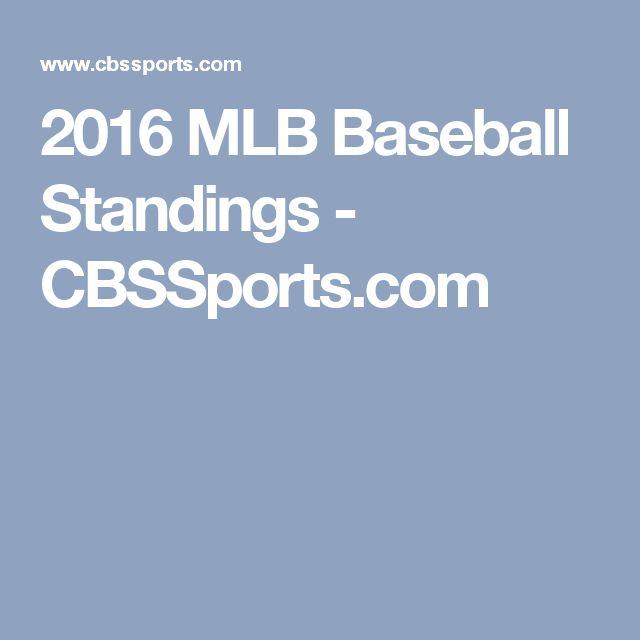 2016 MLB Baseball Standings - CBSSports.com