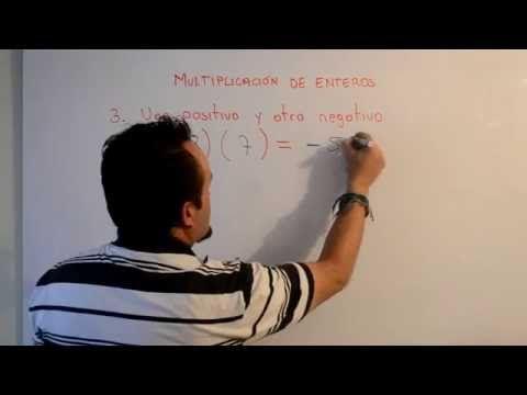 Multiplicación de Números Enteros | Clases Gratis de Matemáticas - YouTube