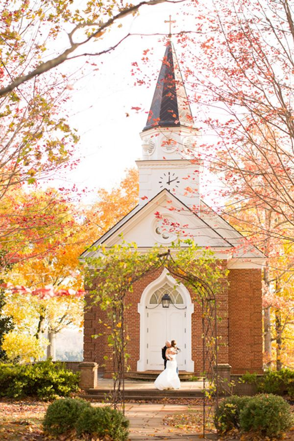 Fall Winery Wedding In Charlottesville Virginia At Trump Chapel Bride And Groom Military