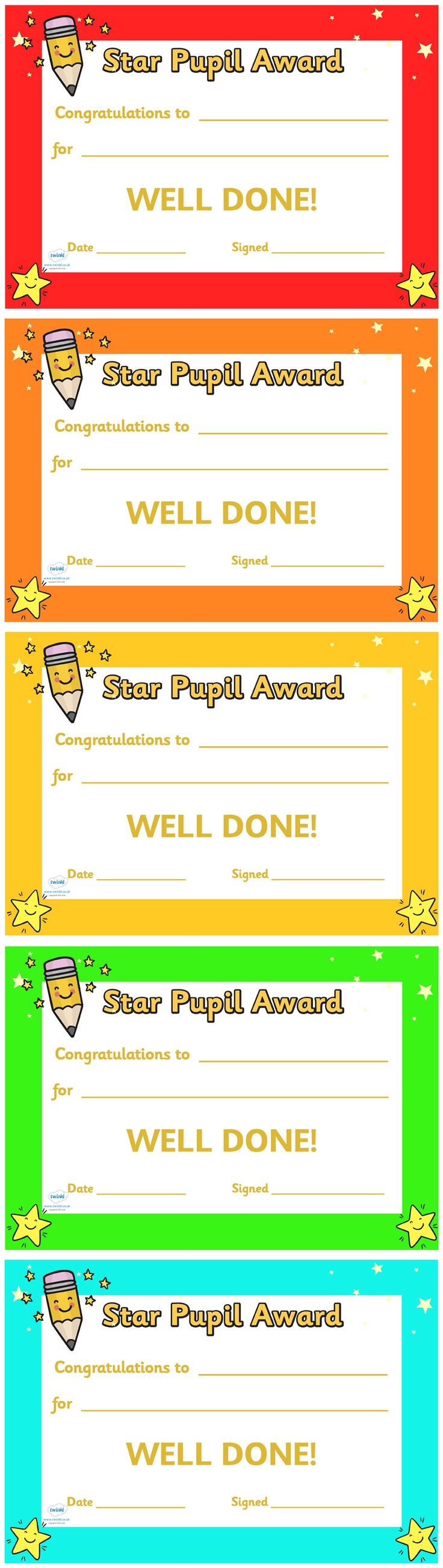 twinkl resources gtgt star pupil award certificate