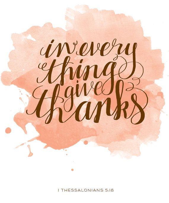 1 Thessalonians 5 : 18