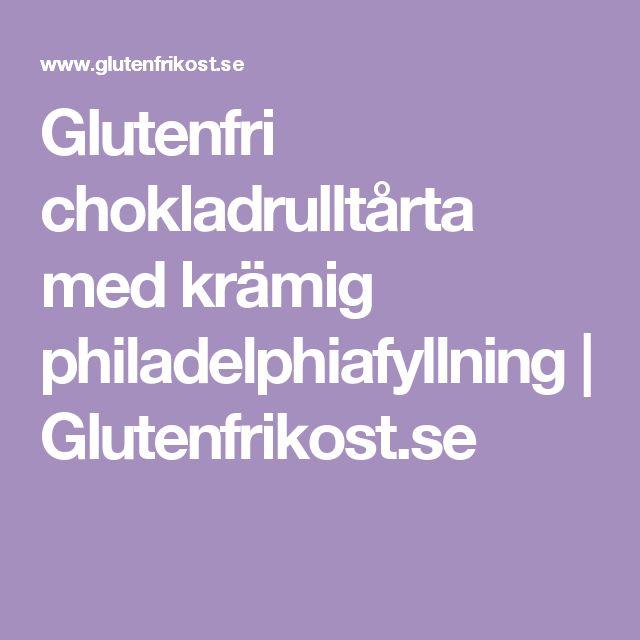 Glutenfri chokladrulltårta med krämig philadelphiafyllning | Glutenfrikost.se