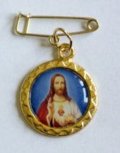 Sacred Heart of Jesus Lapel Pin.